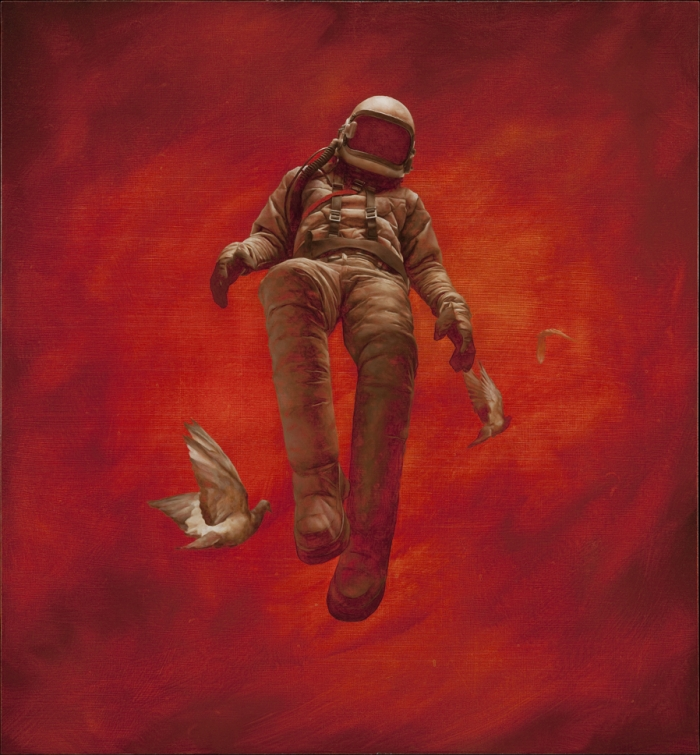 'The Red Cosmonaut' by Jeremy Geddes